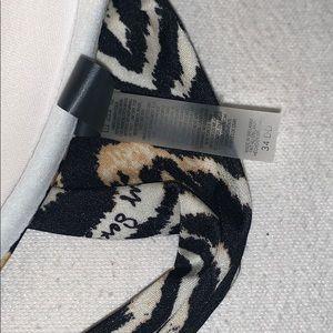 Victoria's Secret Swim - VICTORIAS SECRET • Zebra Animal Print Swim Tie Top